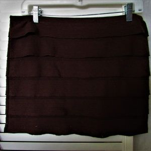 Studio M brown mini skirt petite medium